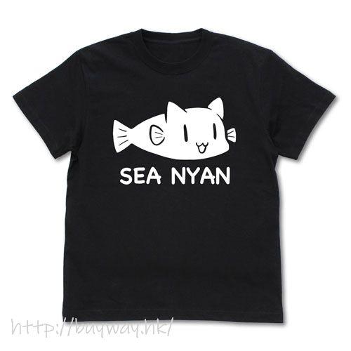 SLOW LOOP (中碼)「SEA NYAN」黑色 T-Shirt Sea Nyan T-Shirt /BLACK-M【SLOW LOOP】