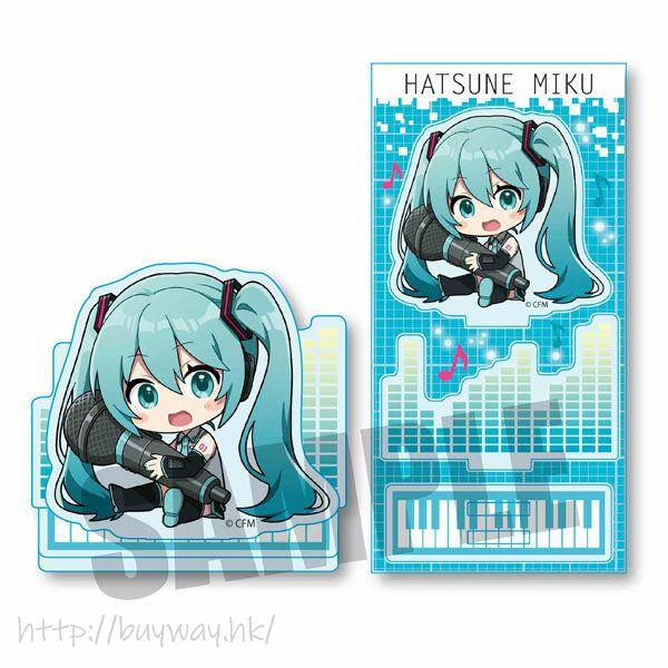 VOCALOID系列 「初音未來」抱著 Mic 亞克力企牌 Hatsune Miku GyuGyutto Acrylic Figure Hatsune Miku【VOCALOID Series】