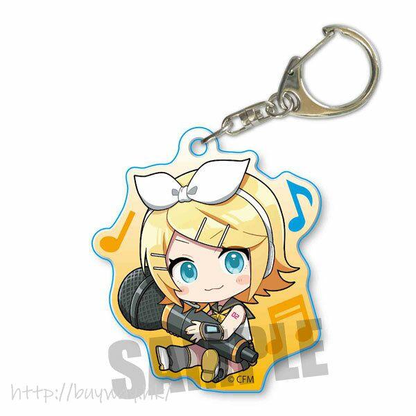 VOCALOID系列 「鏡音鈴」抱著 Mic 亞克力匙扣 Hatsune Miku GyuGyutto Acrylic Key Chain Kagamine Rin【VOCALOID Series】