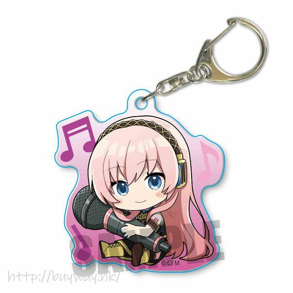 VOCALOID系列 「巡音流歌」抱著 Mic 亞克力匙扣 Hatsune Miku GyuGyutto Acrylic Key Chain Megurine Luka【VOCALOID Series】