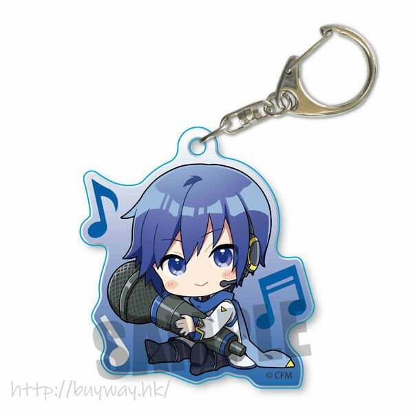 VOCALOID系列 「KAITO」抱著 Mic 亞克力匙扣 Hatsune Miku GyuGyutto Acrylic Key Chain KAITO【VOCALOID Series】