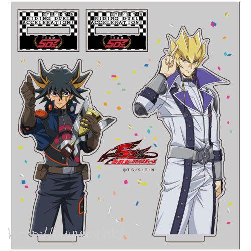 遊戲王 「不動遊星 + 傑克」5D's 優勝記念 亞克力企牌 Yusei & Jack Team 5D's Victory Commemorative Acrylic Stand【Yu-Gi-Oh!】