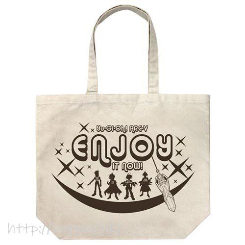 遊戲王 「榊遊矢」大容量 米白 袋子 Large Tote Bag /NATURAL【Yu-Gi-Oh!】