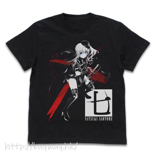 戰×戀 (加大)「早乙女七樹」黑色 T-Shirt Natsuki Saotome T-Shirt /BLACK-XL【Val × Love】