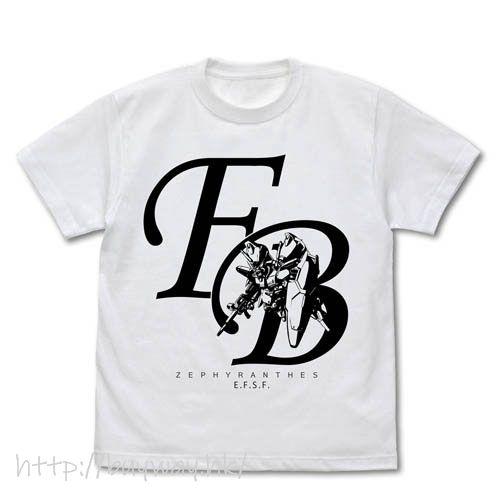 機動戰士高達系列 (中碼)「GP01」Full Burnern 白色 T-Shirt GP01 Full Burnern T-Shirt /WHITE-M【Mobile Suit Gundam Series】
