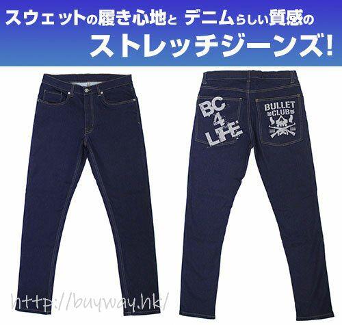 新日本職業摔角 (加大)「BULLET CLUB」彈性牛仔褲 BULLET CLUB Relax Jeans /XL【New Japan Pro-Wrestling】