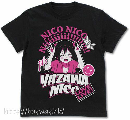 LoveLive! 明星學生妹 (加大)「矢澤妮可」黑色 T-Shirt Nico Yazawa Emotional T-Shirt /BLACK-XL【Love Live! School Idol Project】