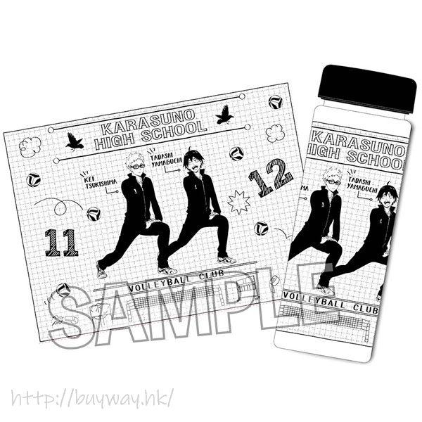 排球少年!! 「月島螢 + 山口忠」Warming Up!! 透明水樽 Warming Up!! Clear Bottle Tsukishima Kei & Yamaguchi Tadashi【Haikyu!!】