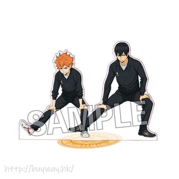 排球少年!! 「日向翔陽 + 影山飛雄」Warming Up!! 亞克力企牌 Warming Up!! Acrylic Stand Hinata Shoyo & Kageyama Tobio【Haikyu!!】