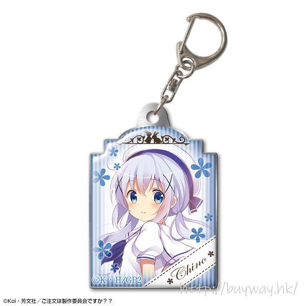 請問您今天要來點兔子嗎? 「香風智乃」校服 Ver. 金屬匙扣 Pukutto Metal Keychain Design 06 (Chino/Uniform ver.)【Is the Order a Rabbit?】