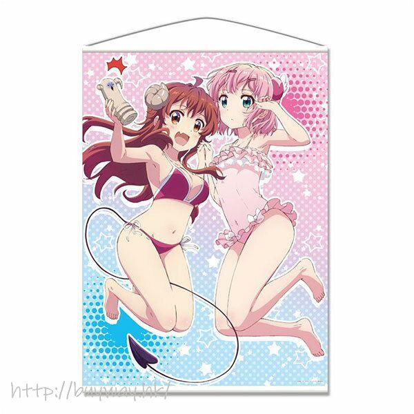 街角魔族 「吉田優子 + 千代田桃」水著 B1 掛布 B1 Wall Scroll Yuuko & Momo【The Demon Girl Next Door】