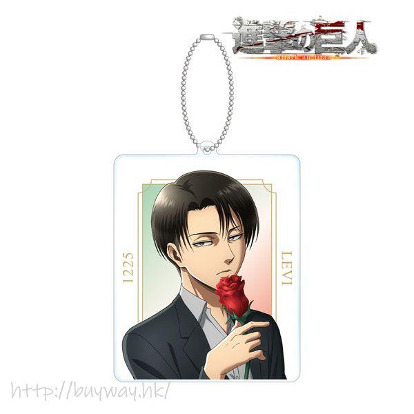 進擊的巨人 「里維」Flower Store in 新宿 亞克力匙扣 New Illustration Levi BIG Acrylic Keychain【Attack on Titan】