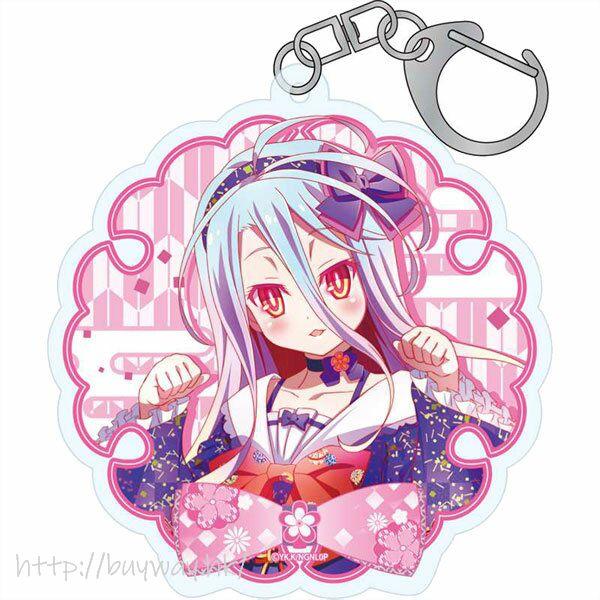 遊戲人生 「白」和服小蘿莉 亞克力匙扣 Japanese Lolita ver. Acrylic Keychain Shiro【No Game No Life】