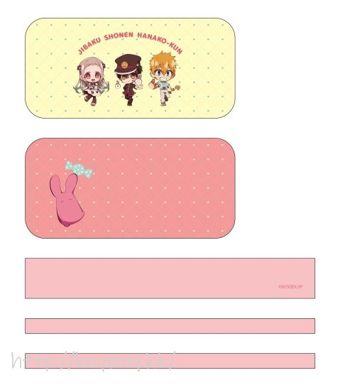 地縛少年花子君 「花子君 + 八尋寧寧 + 源光」動畫 Ver. 多用途收納袋 TV Anime Multipurpose Pouch Deformed ver.【Toilet-Bound Hanako-kun】