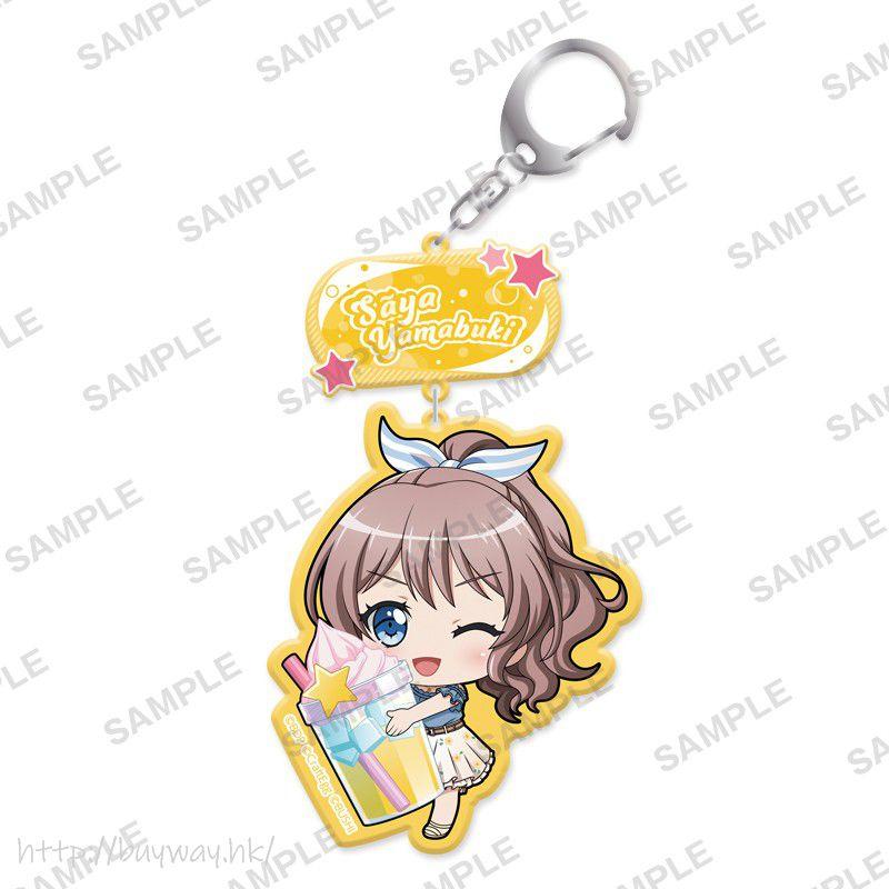 BanG Dream! 「山吹沙綾」抱著特飲 亞克力匙扣 Mugyutto Acrylic Key Chain Saya Yamabuki【BanG Dream!】