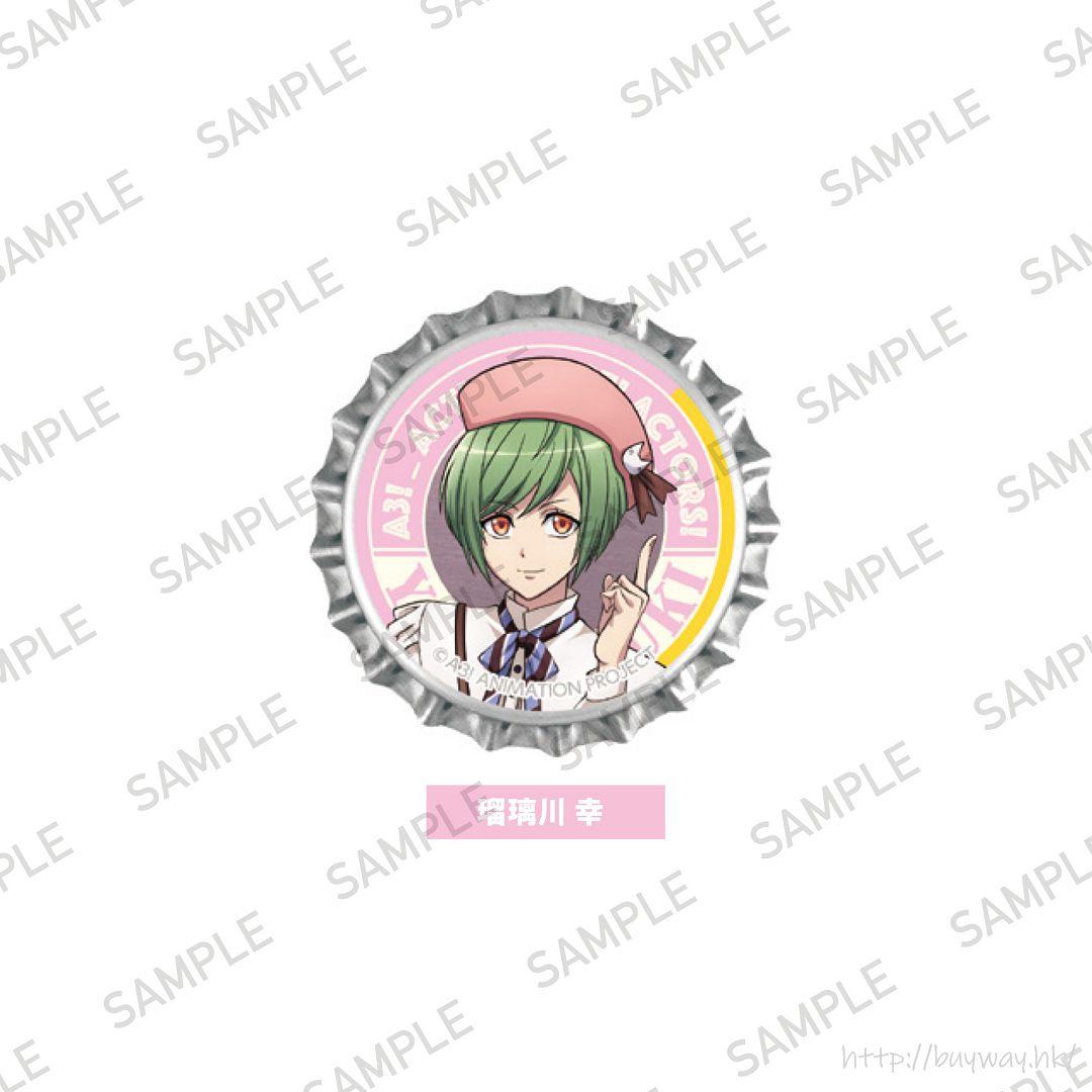 A3! 「瑠璃川幸」動畫 Ver. 瓶冠 亞克力徽章 TV Animation Crown Clip Badge Rurikawa Yuki【A3!】