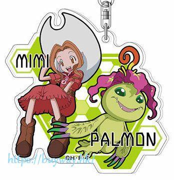 數碼暴龍系列 「太刀川美美 + 巴魯獸」亞克力匙扣 Acrylic Key Chain 06 Mimi & Parumon AK【Digimon】
