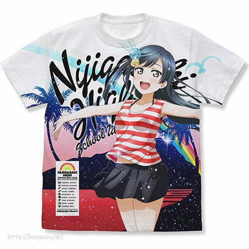 LoveLive! 虹咲學園校園偶像同好會 (加大)「優木雪菜」水著 Ver. 全彩 白色 T-Shirt Setsuna Yuuki Full Graphic T-Shirt Swimsuit Ver./WHITE-XL【Love Live! Nijigasaki Academy School Idol Club】