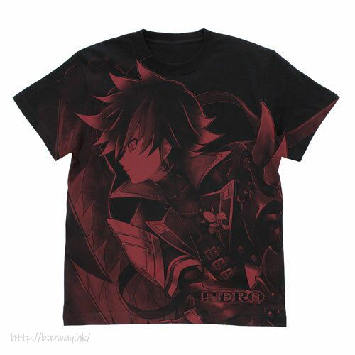 白貓Project (加大)「暗王子」黑色 T-Shirt Yami no Ouji All Print T-Shirt /BLACK-XL【Shironeko Project】