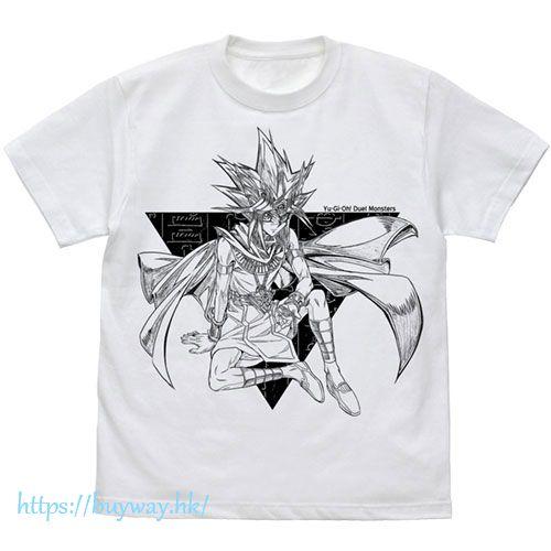 遊戲王 (加大)「武藤遊戲」白色 T-Shirt Atem T-Shirt /WHITE-XL【Yu-Gi-Oh!】