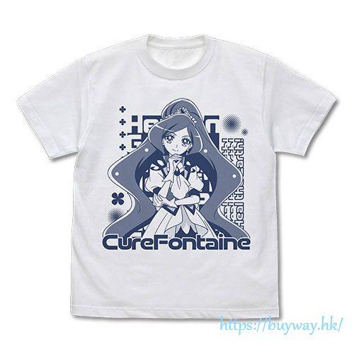 光之美少女系列 (加大)「澤泉知由  聖泉天使」白色 T-Shirt Cure Fontaine T-Shirt /WHITE-XL【Pretty Cure Series】