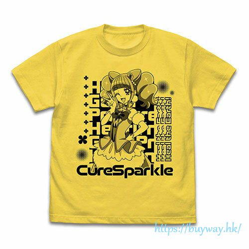 光之美少女系列 (大碼)「平光日向  閃爍天使」黃色 T-Shirt Cure Sparkle T-Shirt /YELLOW-L【Pretty Cure Series】