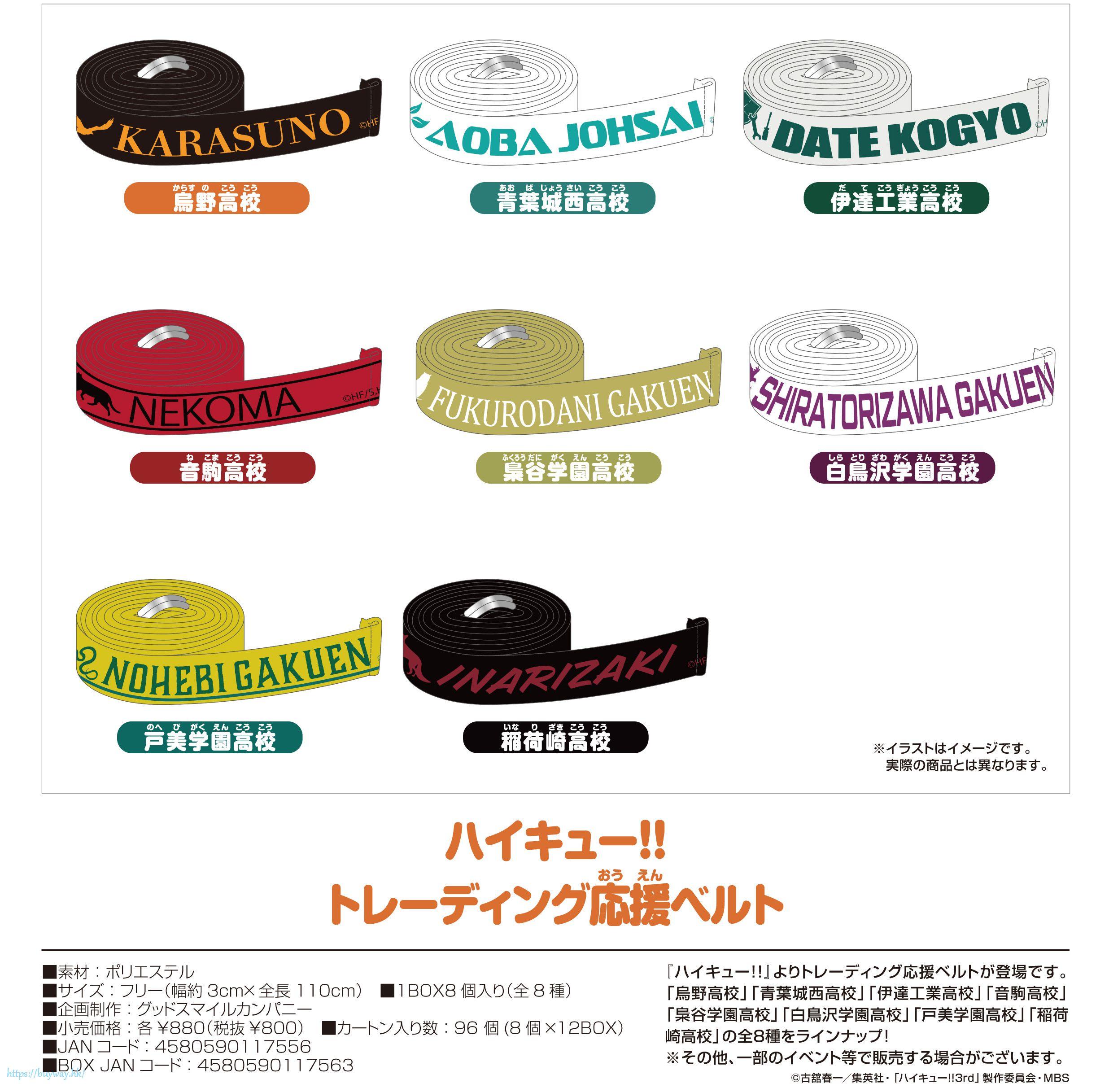 排球少年!! 應援帶 (8 個入) Cheer Belt (8 Pieces)【Haikyu!!】