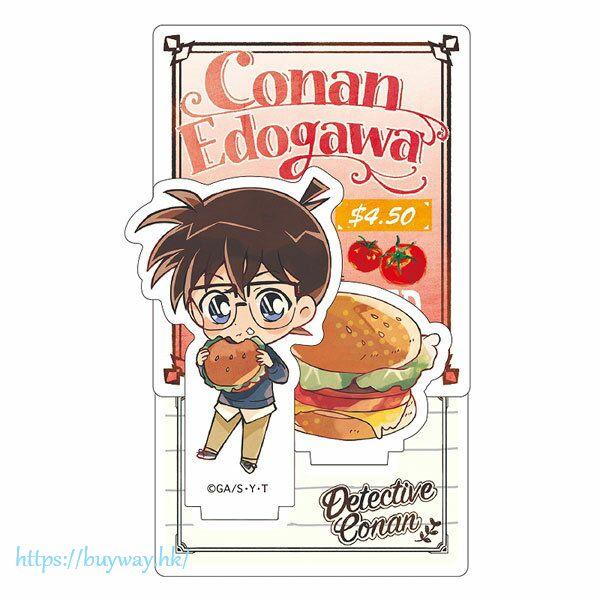 名偵探柯南 「江戶川柯南」吃快餐SD 亞克力企牌 Diorama Acrylic Stand Conan Junk SD【Detective Conan】
