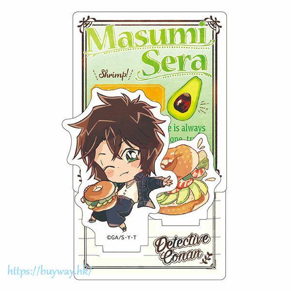 名偵探柯南 「世良真純」吃快餐SD 亞克力企牌 Diorama Acrylic Stand Sera Junk SD【Detective Conan】
