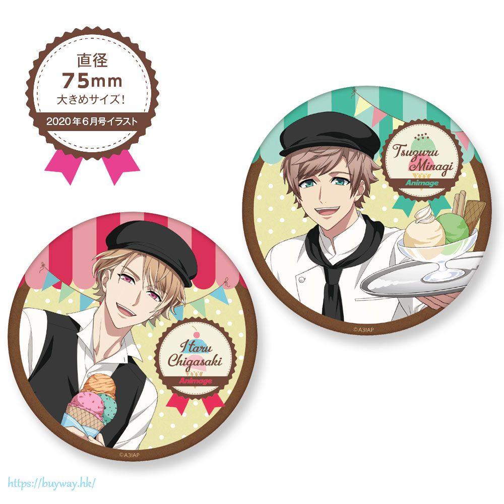 A3! 「皆木綴 + 茅ヶ崎至」店員 Ver. 收藏徽章 (1 套 2 款) Can Badge Set Shop Assistant Ver. Tsuzuru Minagi + Itaru Chigasaki【A3!】