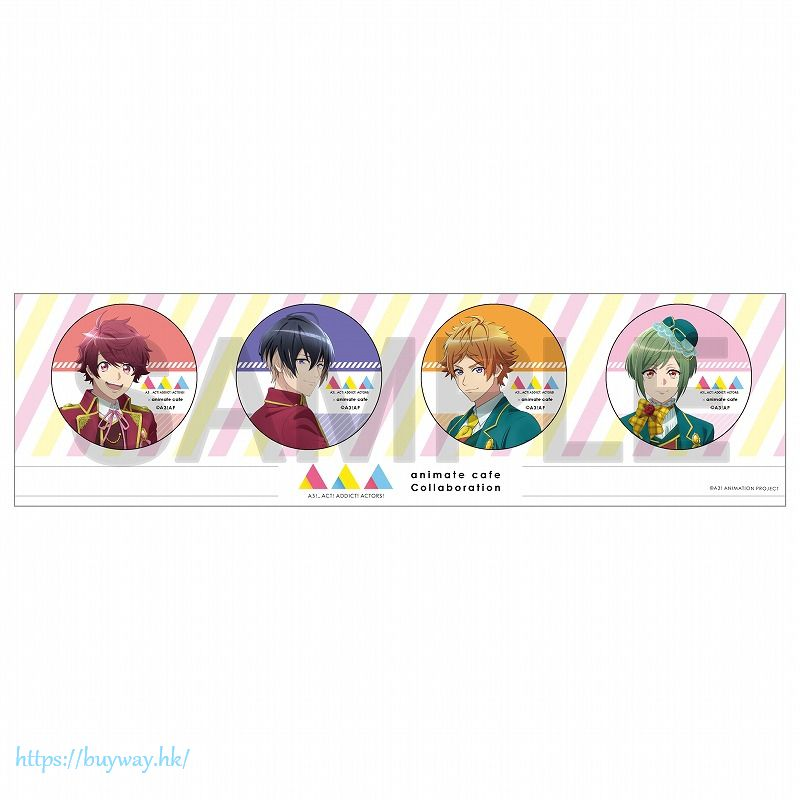 A3! 「佐久間 + 皇天馬 + 真澄 + 幸」動畫 Ver. 徽章 (1 套 4 款) Can Badge Set TV Anime ver. (4 Pieces)【A3!】