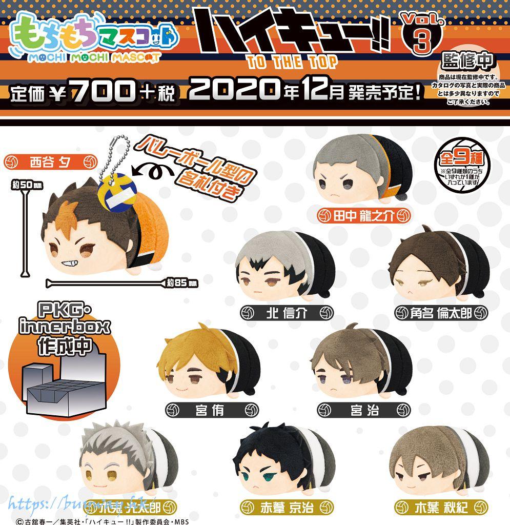 排球少年!! 團子趴趴公仔 掛飾 Vol.3 (9 個入) Mochimochi Mascot Vol. 3 (9 Pieces)【Haikyu!!】