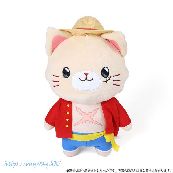 海賊王 「路飛」withCAT 30cm 大公仔 withCAT Plush BIG Size w/Eye Mask Luffy【One Piece】