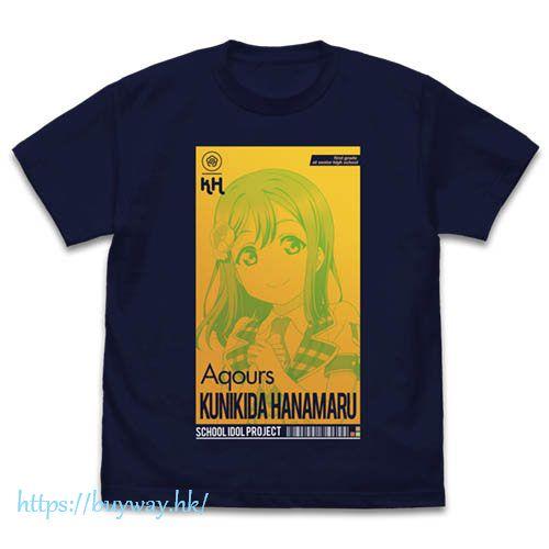 LoveLive! Sunshine!! (加大)「國木田花丸」ALL STARS Ver. 深藍色 T-Shirt Hanamaru Kunikida T-Shirt ALL STARS Ver. /NAVY-XL【Love Live! Sunshine!!】