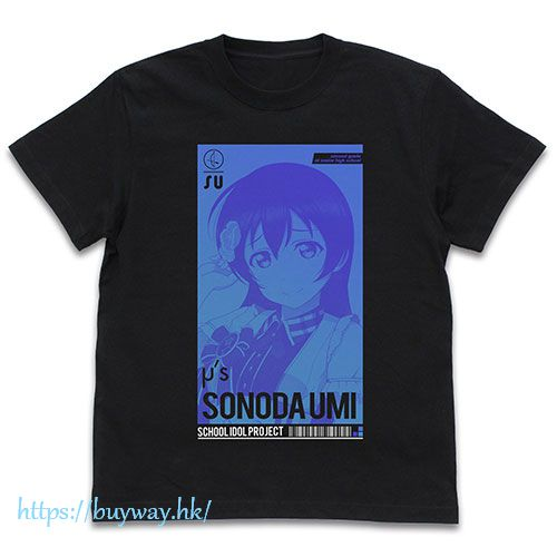 LoveLive! 明星學生妹 (大碼)「園田海未」ALL STARS Ver. 黑色 T-Shirt Umi Sonoda T-Shirt ALL STARS Ver./BLACK-L【Love Live! School Idol Project】
