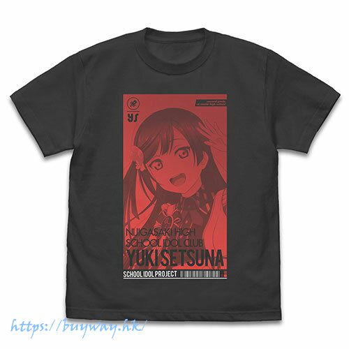 LoveLive! 虹咲學園校園偶像同好會 (加大)「優木雪菜」ALL STARS 墨黑色 T-Shirt Setsuna Yuuki T-Shirt ALL STARS Ver./SUMI-XL【Love Live! Nijigasaki Academy School Idol Club】