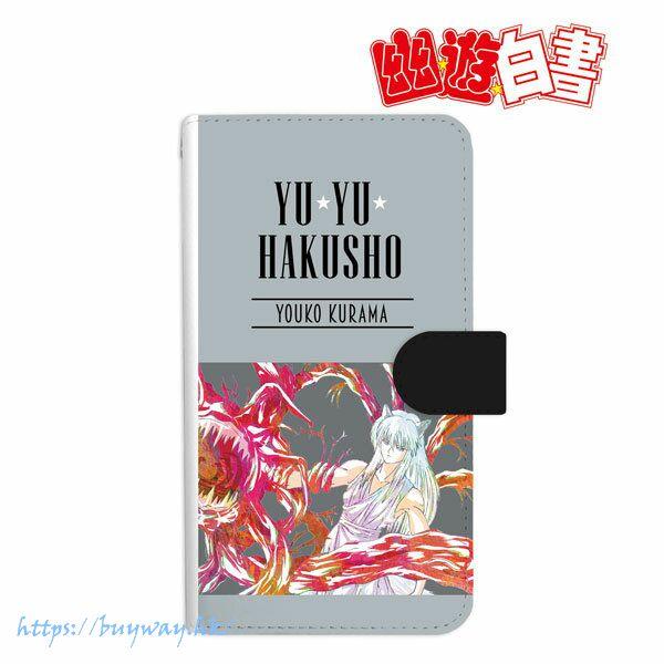 幽遊白書 「妖狐蔵馬」Ani-Art 162mm 筆記本型手機套 Youko Kurama Ani-Art Book-style Smartphone Case (L Size)【YuYu Hakusho】