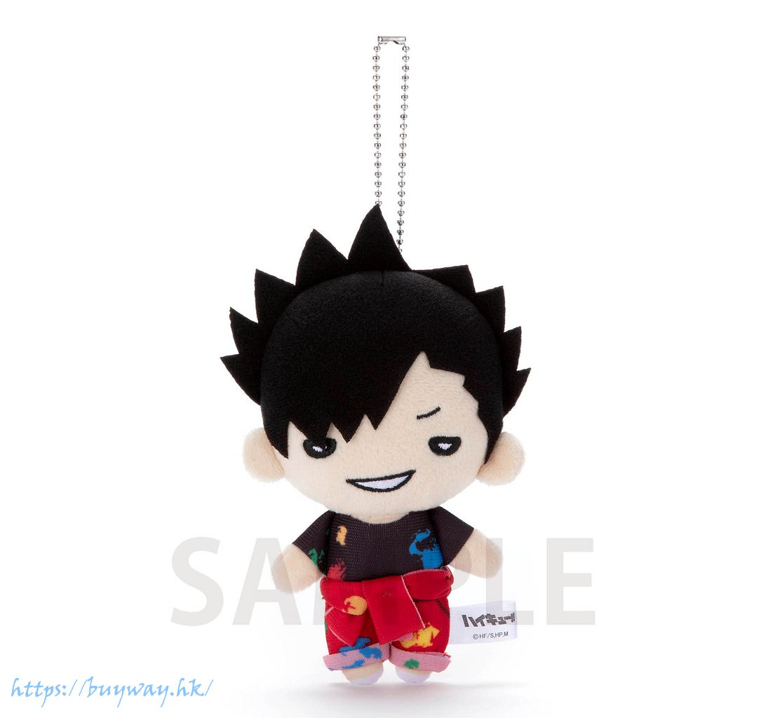 排球少年!! 「黑尾鐵朗」油漆服 豆豆眼 公仔掛飾 Nitotan Paint Suit Plush with Ball Chain Kuroo【Haikyu!!】