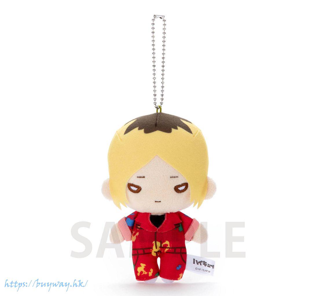 排球少年!! 「孤爪研磨」油漆服 豆豆眼 公仔掛飾 Nitotan Paint Suit Plush with Ball Chain Kozume【Haikyu!!】