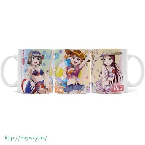 LoveLive! Sunshine!! 「高海千歌 + 櫻內梨子 + 渡邊曜」全彩 陶瓷杯 Full Color Mug Chika + Riko + You【Love Live! Sunshine!!】