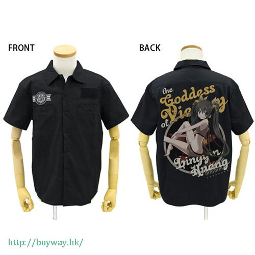 IS 無限斯特拉托斯 (加大)「凰鈴音」黑色 工作襯衫 Huang Lingyin Full Color Work Shirt Nose Art Style Ver. / BLACK - XL【IS (Infinite Stratos)】