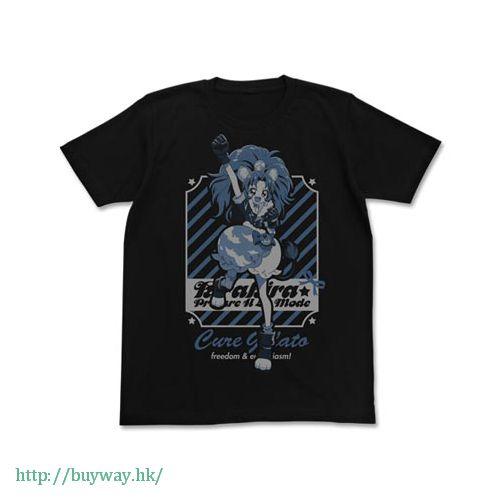 光之美少女系列 (中碼)「立神葵 / 雪糕天使」黑色 T-Shirt Cure Gelato T-Shirt / BLACK - M【Pretty Cure Series】
