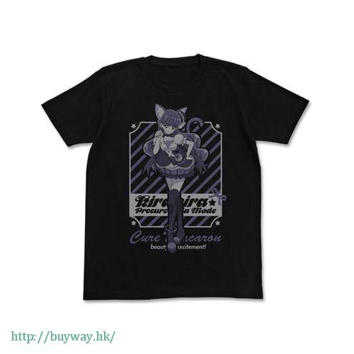 光之美少女系列 (中碼)「琴爪緣 / 馬卡龍天使」黑色 T-Shirt Cure Macaron T-Shirt / BLACK - M【Pretty Cure Series】