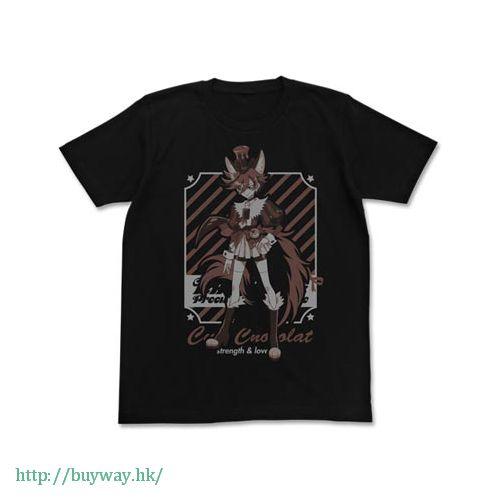 光之美少女系列 (中碼)「劍城晶 / 巧克力天使」黑色 T-Shirt Cure Chocolat T-Shirt / BLACK - M【Pretty Cure Series】
