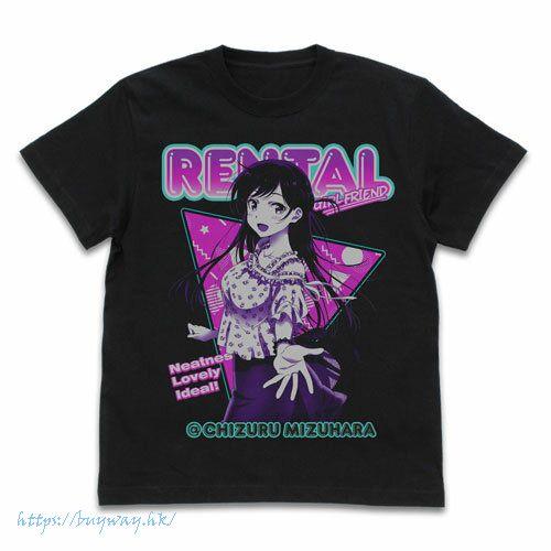 出租女友 (加大)「水原千鶴」彩圖 黑色 T-Shirt Chizuru T-Shirt /BLACK-XL【Rent-A-Girlfriend】