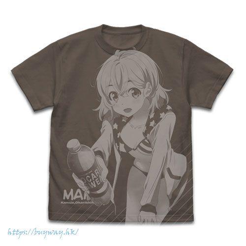 出租女友 (加大)「七海麻美」暗黑 T-Shirt Mami Nanami All Print T-Shirt /CHARCOAL-XL【Rent-A-Girlfriend】