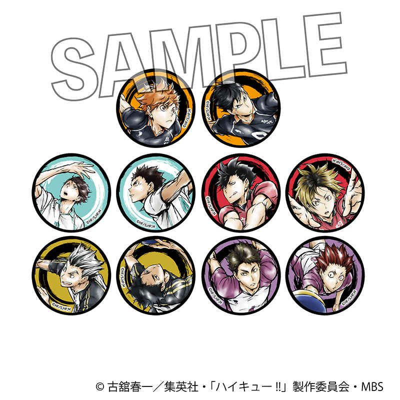 排球少年!! 收藏徽章 激闘!! (10 個入) Gekitou!! Can Badge Set【Haikyu!!】