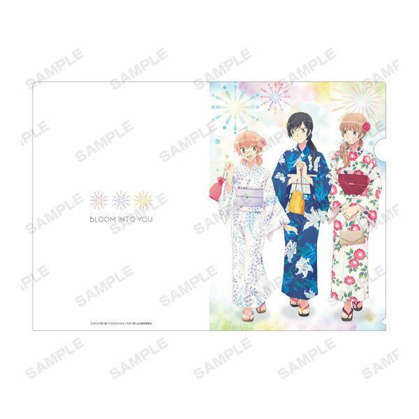 終將成為妳 「小糸侑 + 七海燈子 + 佐伯沙彌香」浴衣 Ver. A4 文件套 New Illustration Group Yukata ver. Clear File【Bloom Into You】