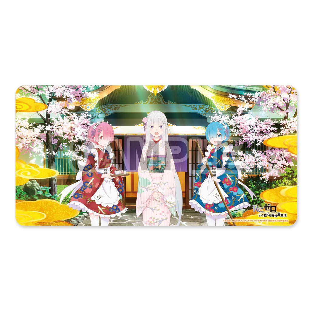 Re:從零開始的異世界生活 「艾米莉婭 + 雷姆 + 拉姆」異世界旅館 遊戲墊 Rubber Play Mat Collection Another World Ryokan Ver.【Re:Zero】