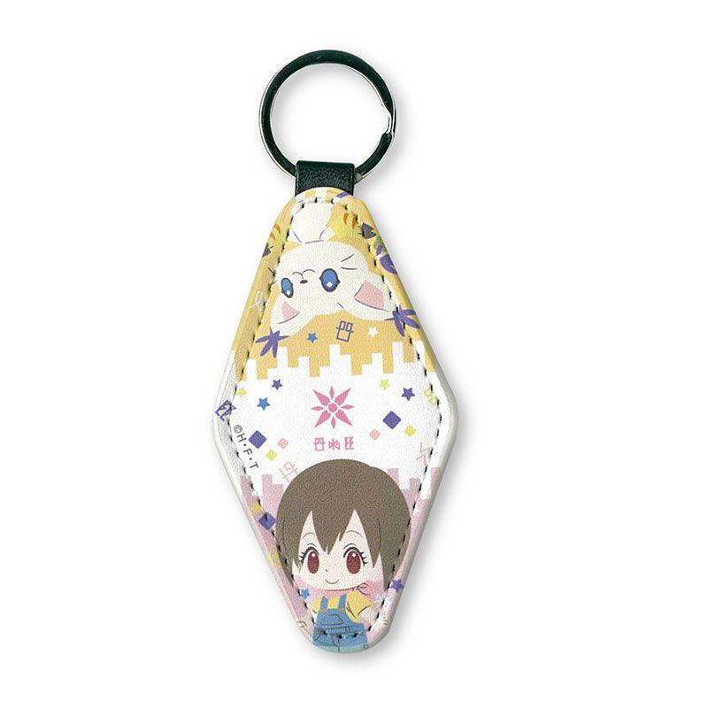 數碼暴龍系列 「八神光 + 迪路獸」皮革 鏡子匙扣 Mirror Tag Key Chain Hikari & Tailmon【Digimon】